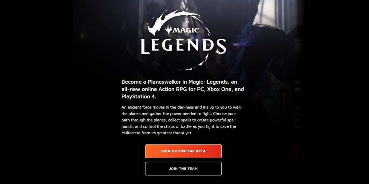 Magic Legends Beta - comment s'inscrire