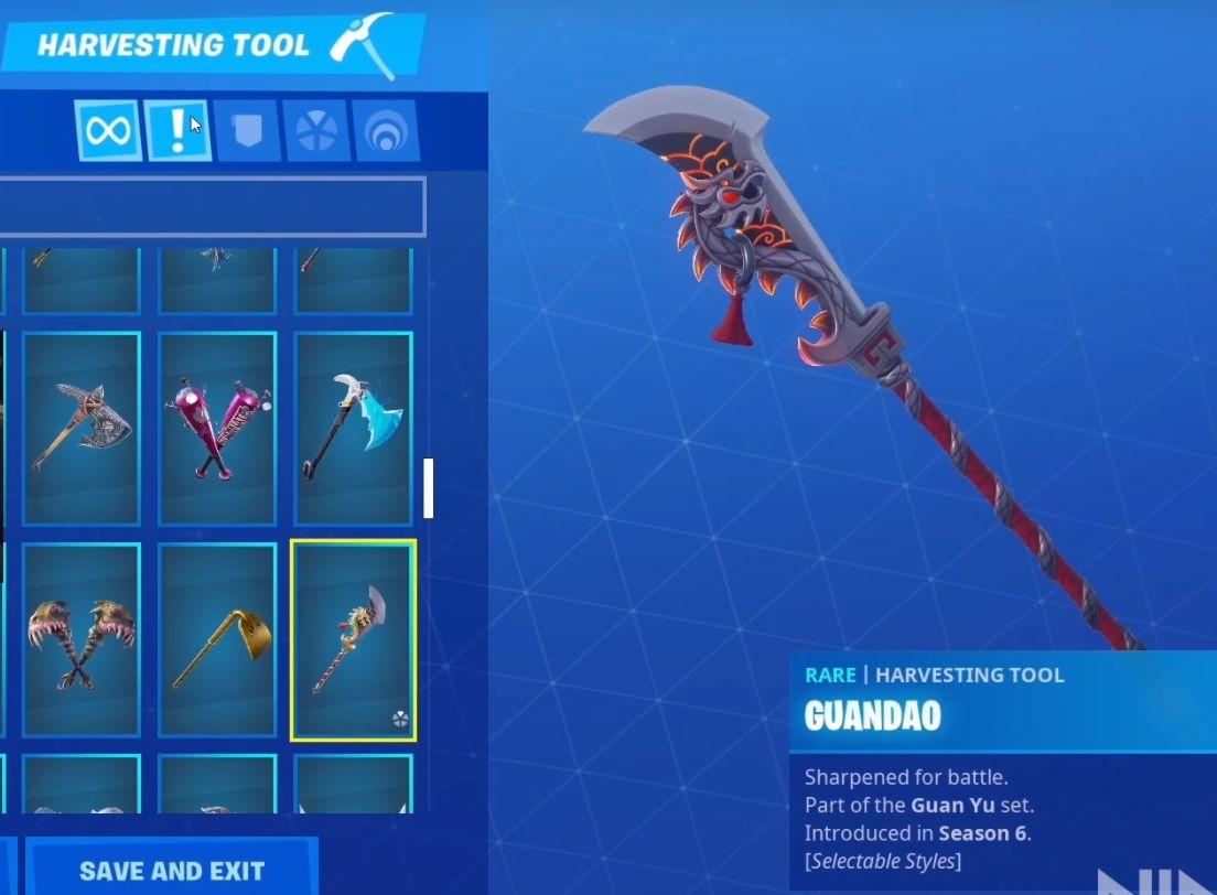 Pioche de Ninja sur Fortnite