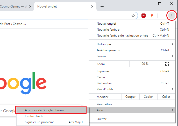 Comment mettre à jour Google Chrome sur Windows 10
