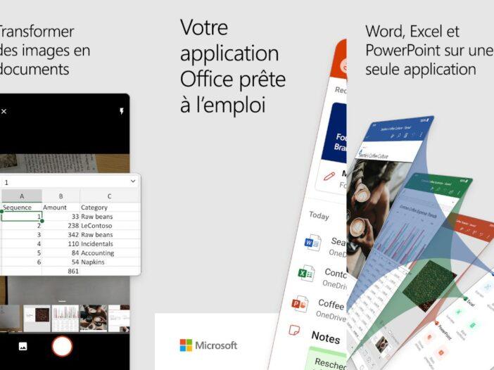 Microsoft Office - une seule app Android pour Word, Excel et PowerPoint