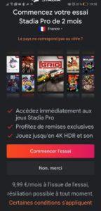 2 mois gratuits avec Stadia Pro