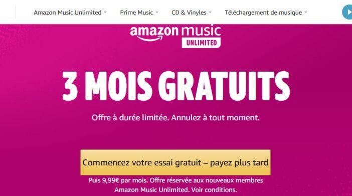 Amazon Music Unlimited - 3 mois d'abonnement gratuit