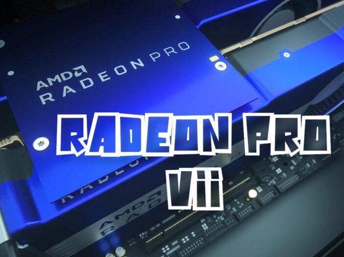 AMD Radeon Pro VII - une carte Pro avec un prix agressif
