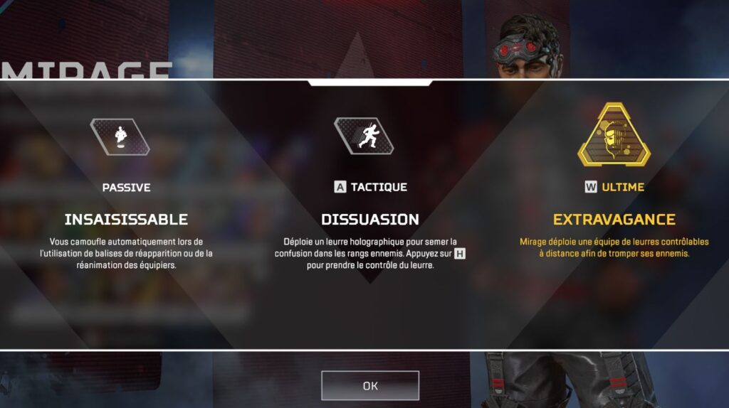 Capacités Mirage - Guide Apex Legends