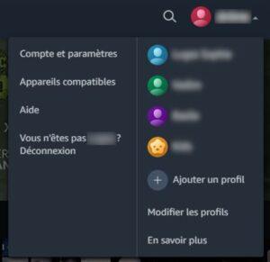Modifier les profils Prime Video