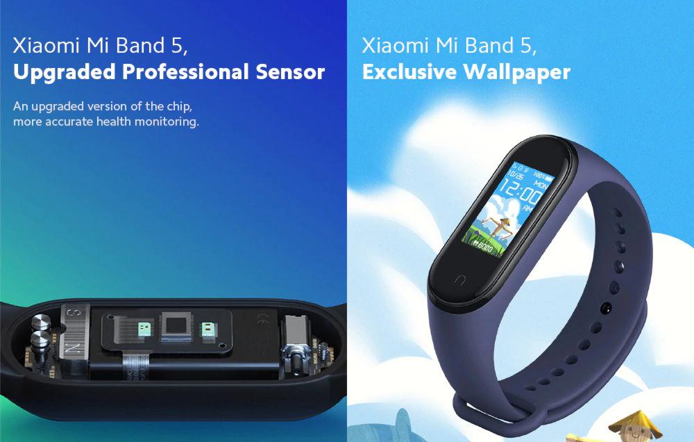 Xiaomi Mi Band 5 nouveaux capteurs