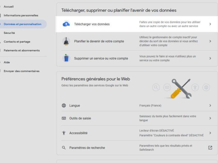 sauvegarder vos mails Gmail
