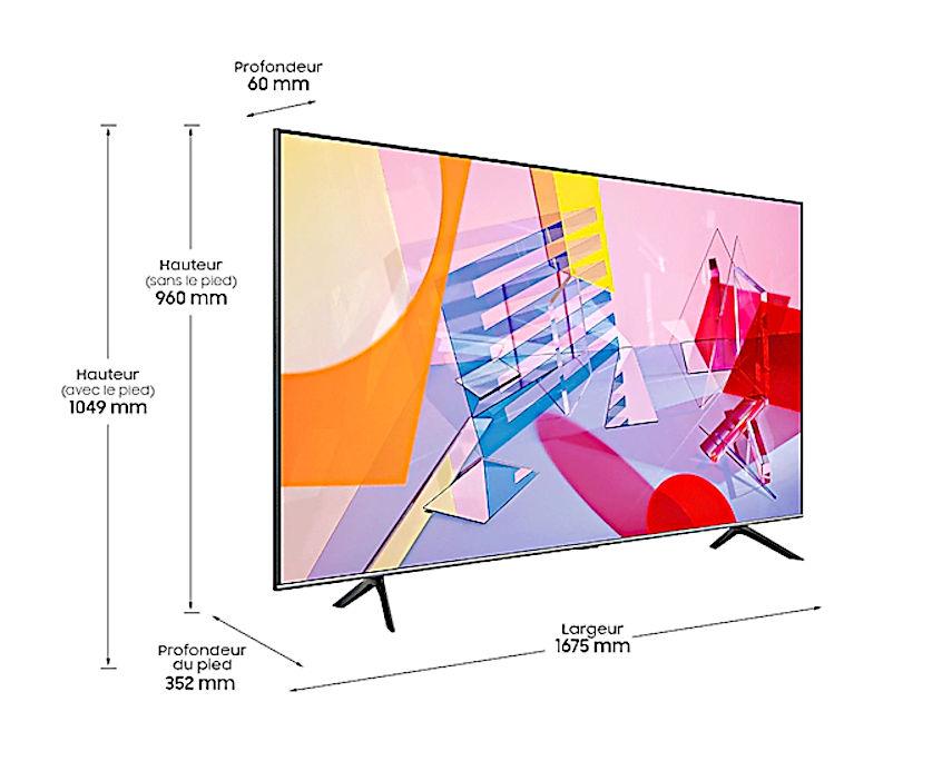 Dimensions du Samsung QE75Q60T