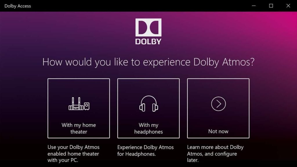 Dolby Access - Dolby Atmos Windows 10