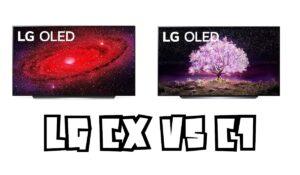 LG CX vs C1