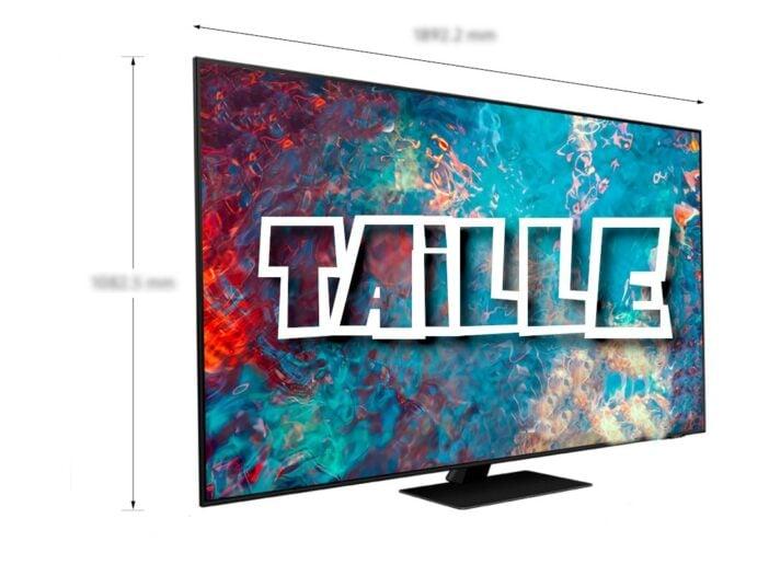 Taille des écrans TV en pouces